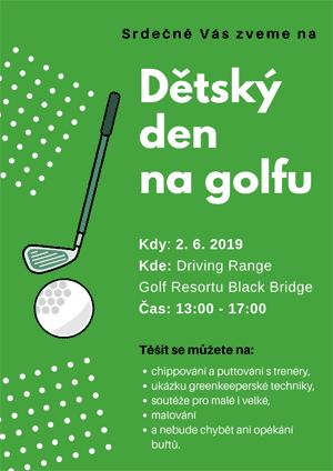 Dětský den na golfu - pozvánka