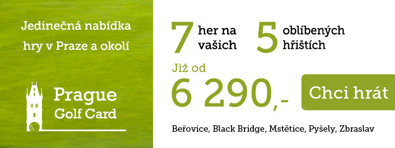 Prague Golf Card - regionální golfová karta