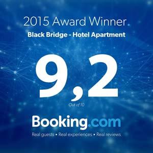 Ubytování na Black Bridge získalo skvělé hodnocení na Booking.com
